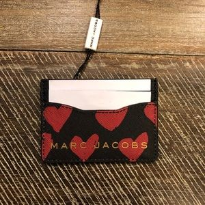 "Marc Jacobs ""Red Hearts"" card case"